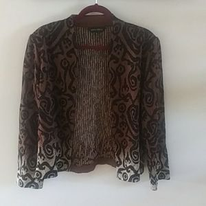 Ming Wang Elegance open front jacket~XL